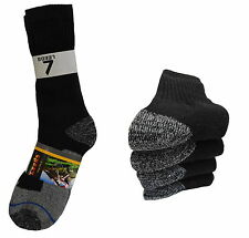 4 PAIR CREW PREMIUM HEAVY SOCKS COTTON LONG THICK BLACK BOOTS SOCKS