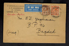 1929 london England First Flight Cover to Baghdad IRaq FFC Imperial Airways