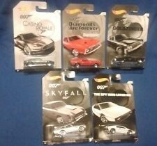 Complete Set of 5 Hot Wheels James Bond 007 Cars Walmart Exclusive
