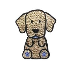 Yellow Labrador Dog Rhinestone Glitter Jewel Phone Ipod Iphone Sticker Decal