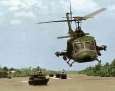 "UH-1E Huey Helicopter escorting River Patrol Boats 8""x 10"" Vietnam War Photo 84"