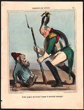 Honoré Daumier Chargeons les Russes. Epreuve sur blanc n° 24. 1854. Cul de jatte