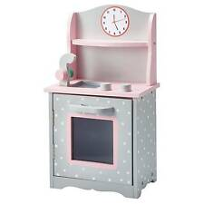 Olivia's Little World - 18 inch Doll Furniture - Sweet Kitchen (Grey Polka Dots)