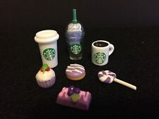 "Littlest Pet Shop ""Starbucks"" Purple Frappuccino/Coffee Cup/Mug x4 Grape Dessert"