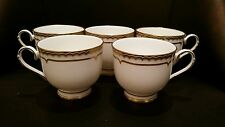 Set of 5 - Royal Worcester Marquis Fine Bone China Footed Tea Cups