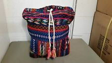 New Billabong Ethnic Tribal Two Pocket Backpack