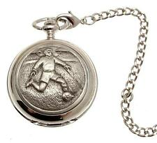 Pocket watch Footballer design quartz mechanism
