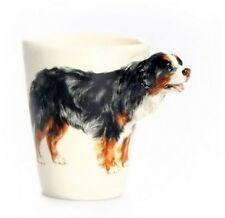 Blue Witch 3D  Bernese Mountain Dog Ceramic Hand Crafted Coffee Mug