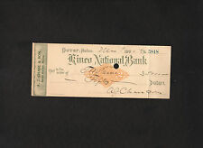 signed 1900 check from A J Chase & Son lumber store to T W Paine * Sebec, Maine