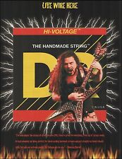 Pantera Dimebag Darrell Signature DR guitar strings ad 8 x 11 advertisement