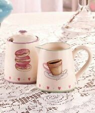 Cookies and Cream Ceramic Sugar & Creamer Set  NEW