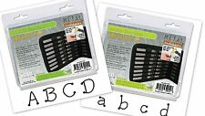 BOTH SETS! DOTS Lower & Uppercase Metal Stamp Punch Letter Set 3mm-Free Shipping