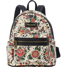 Loungefly Tattoo Flash Mini Faux Leather Backpack Backpack Handbag NEW
