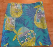 Lilly Pulitzer Sz 12 Reversible Skirt Cotton Bl Multi-Color  Escargot/Frogs