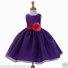 WEDDING FLOWER GIRL DRESS PAGEANT BRIDESMAID TODDLER 12-18M 2 3T 4 5T 6 6X 8 10