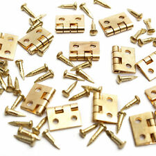 50pcs Mini Metal Hinges with Nails For 1/12 Miniature Furniture Dollhouse