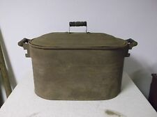Antique Tub Boiler Canning Kettle w/Lid Oval 24 x 13 x 13