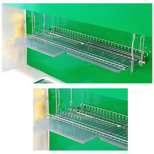 Stainless Wall Mount Dish Drying Fixing Rack Ladle Cup Shelf Sink Kitchen NEW