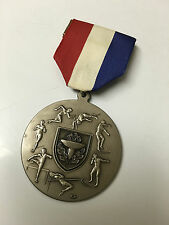 SCHOOL PARALLEL BARS  MEDAL  1982 WITH RIBBON