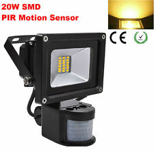 20W Flood Light Warm White SMD LED Outdoor Garden Spot Light With Motion Sensor