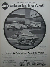 11/1959 PUB JEEP WILLYS VEHICLE AIRPORT AEROPORT AIRLINE ORIGINAL AD