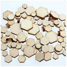 50pcs WOODEN MINI MIXED WOOD HEXAGON DECOR IDEAL CRAFT CARD MAKING SCRAPBOOKING