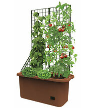 Garden Mobile Vegetable Patch Self Watering Planter Box With Trellis Grow Box