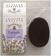 Crabtree & Evelyn Lavender Lavander Swiss Glycerine Soap 3.5 oz Rare NIB 1 Bar