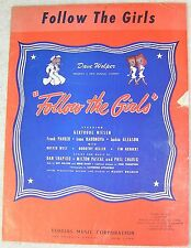 1944 Vintage Sheet Music Follow the Girls Robbins Music Corporation Title On Top
