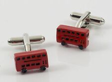 NEW London Red Double Decker Bus Cufflinks  Cuff links new in gift box 12546