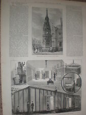 Steel Strong room for National Bank of Scotland 1885 old print