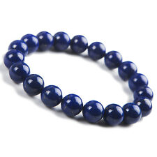 Genuine Natural Blue Lapis Lazuli Gemstone Round Beads Bracelet 11mm AAAA