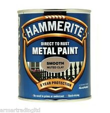 Hammerite Direct to Rust Metal Paint Smooth Black Blue Green Silver White Yellow