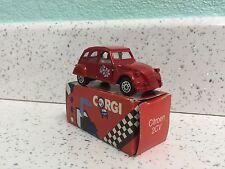 Corgi juniors rouge citroen 2CV voiture fabriqué en grande-bretagne coffret jouet.