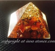 Reiki Energy Charged Natural Red Jasper Orgone Pyramid Powerful Energy Generator