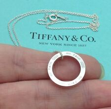 Tiffany & Co. Plata Esterlina 1837 Círculo Colgante Collar de 18""