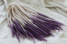 Wool Dreadlocks Custom Wool Dreads set of 23 Double Ended 32 inch total