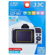 JJC LCP-M3 hard polycarbonate LCD Screen Protector For Canon EOS M3 2 Pack EOSM3