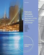 Calculus Concepts: An Applied Approach to the Mathematics of Change by Sherry...