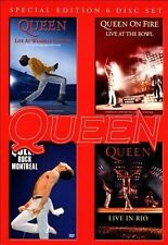 Live at Wembly/Rock Montreal/Live in Rio/On Fire: Live at the Bowl by Queen (DV…