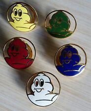 RARE LOT NO PIN'S 5 PINCES A FOULARD MICHELIN TETE BIBENDUM EGF