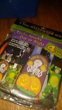 HALLOWEEN 4 FOOT HALLOWEEN SCENE YARD DECOR TRICK OR TREAT skelaton NEW