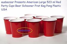 200 American Large 523 ml Red Party Cups Beer Schooner Frat Keg Pong Plastic USA