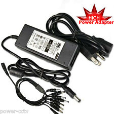 D1 AC/DC Power Adapter 12V 7Amp + 1 to 8 Power Splitter for CCTV Security Camera