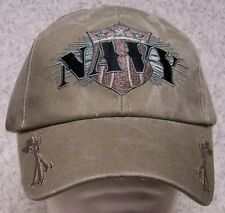 Embroidered Baseball Cap Military Navy with arrows NEW 1 hat size fits all