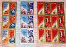 Russia Unión Soviética 1981 klb 5056-58 MS 4925-27 Soviet Space flights gagarin mnh