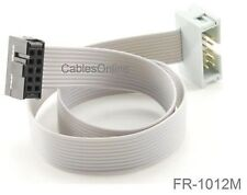 1-ft 10-Pin 2.54mm-Pitch Male/Female 10-wire IDC Flat Ribbon Extension, FR-1012M