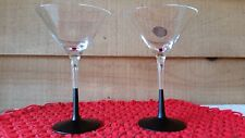 MIKASA MARTINI GLASSES (2) BLACK STEM 10 OZ. VERY NICE! MIKASA'S SIGNATURE DRINK