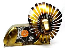 Lion electric table fan Deco Breeze metal art Retired Collectible New NIB