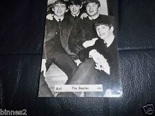 THE BEATLES OFFICIAL 1963 BREL PHOTOGRAPH CS134 FULL GLOSS POSTCARD AWESOME !